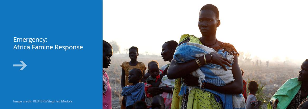 Emergency: Africa famine response