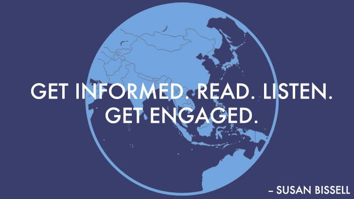 get informed. read. listen. get engaged.