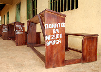 Desks donated by Mission Africa