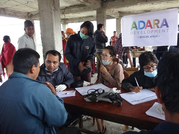 The Adara Mobile Medical Camp in action in Shankhu