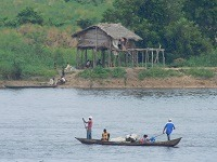 canoe in the DRC