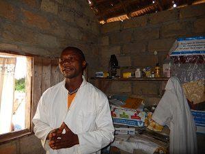 A health worker in Lolanga Zone