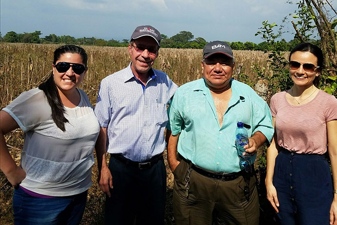 Nathalia Rodriguez Vega (far right) with her Global Partnerships colleagues.
