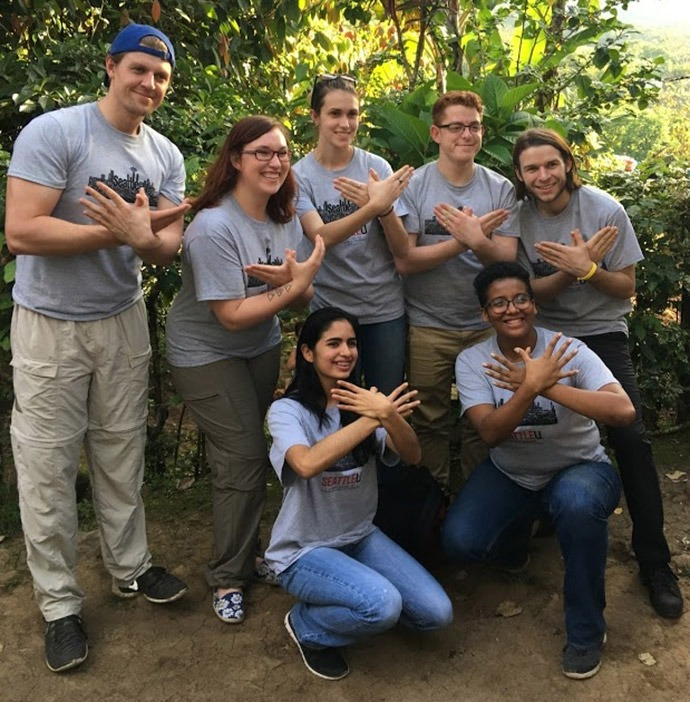The fair trade coffee team at Seattle University.