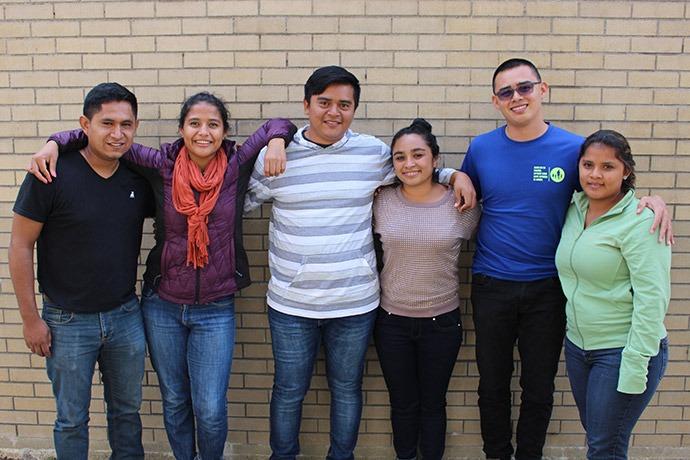 The Institute's Class of 2017 – 2018: Ever, Maria, Darich, Darlyn, Farid and Yomara. Credit: NPH