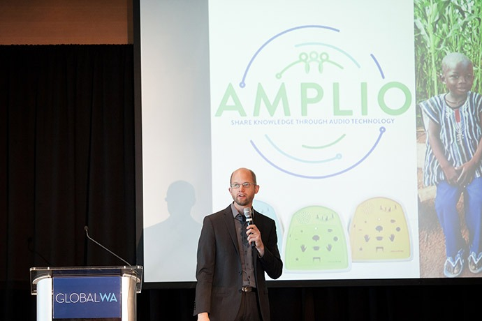Cliff Schmidt, founder and executive director of Amplio (formerly Literacy Bridge).