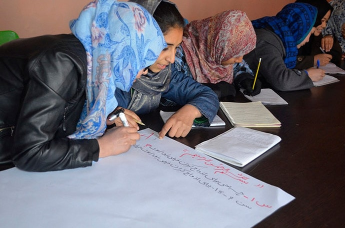 Sahar Education students take part in an early marriage prevention program