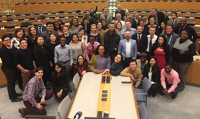 International LGBTIQ Human Rights Defenders at UN Headquarters in December 2017
