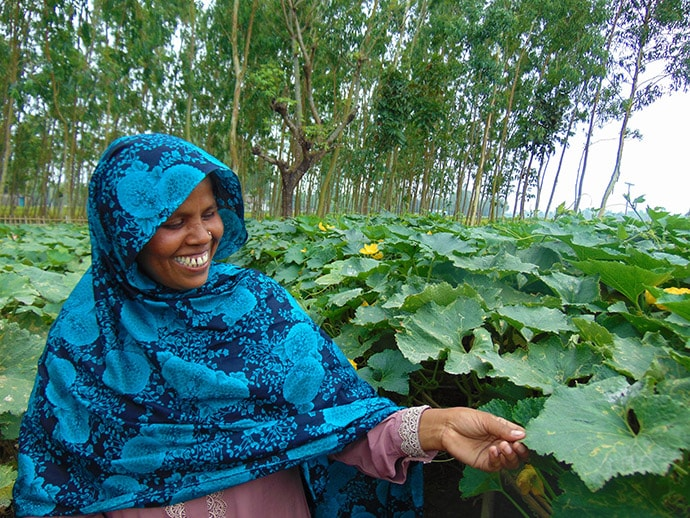 Rabeya, 31, is a mother of two and successful potato and pumpkin farmer