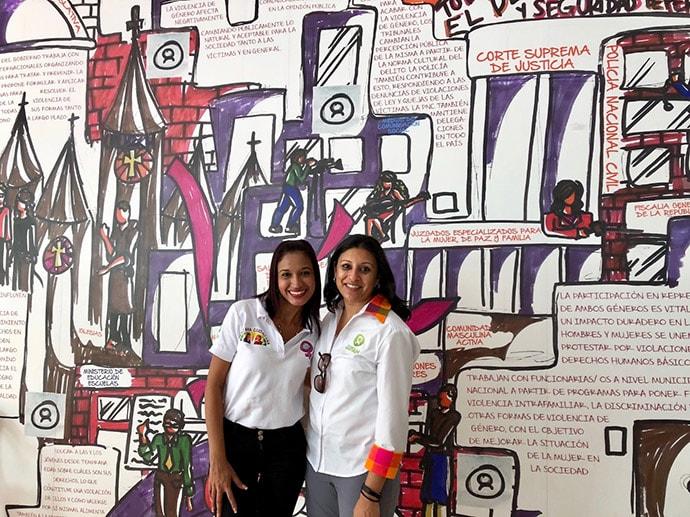 At the Shaira Ali Center in El Salvador