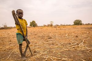 Child in South Sudan field