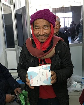 A Nepalese patient accesses free cancer medication