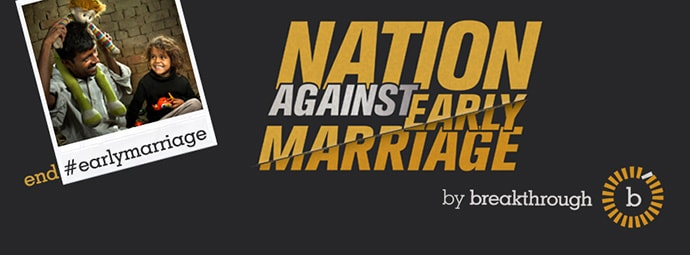 Nation Against Early Marriage banner