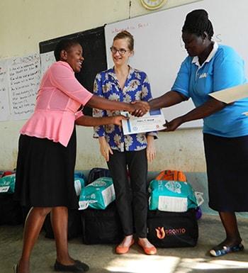 Heidi Breeze-Harris in Migori County, Kenya, with midwives