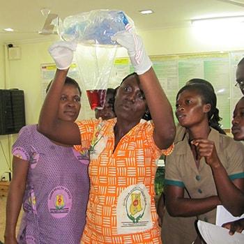 Health workers in Ghana