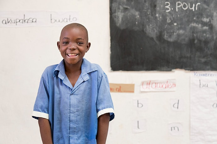 Mphatso, 8, a Grade 3 student in the World Vision Malawi Literacy Boost program