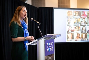 Kristen Dailey at the 2019 Women of the World breakfast
