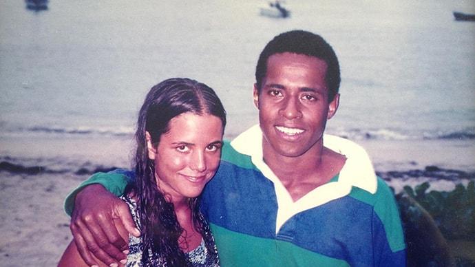 Janet and Semi Lotawa in Fiji