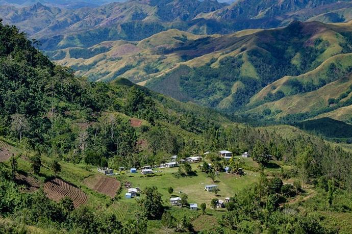Remote village in Fiji