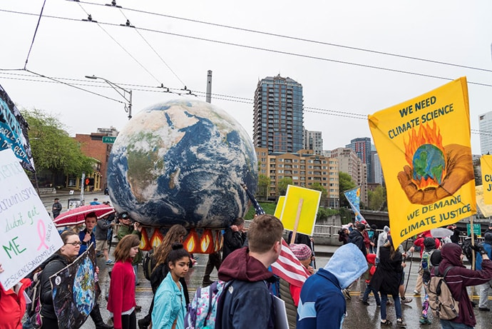2017 Earth Day climate march in Seattle