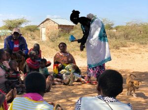 USAID's Afya Timiza project uses the Amplio Talking Book train and support community health volunteers in Samburu County.