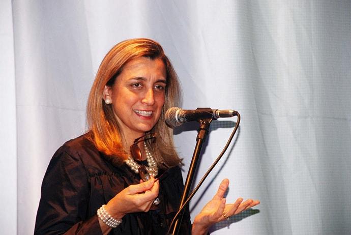 Susana Garcia-Robles speaking
