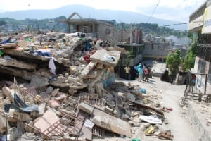 Damage in Port-au-Prince, Haiti