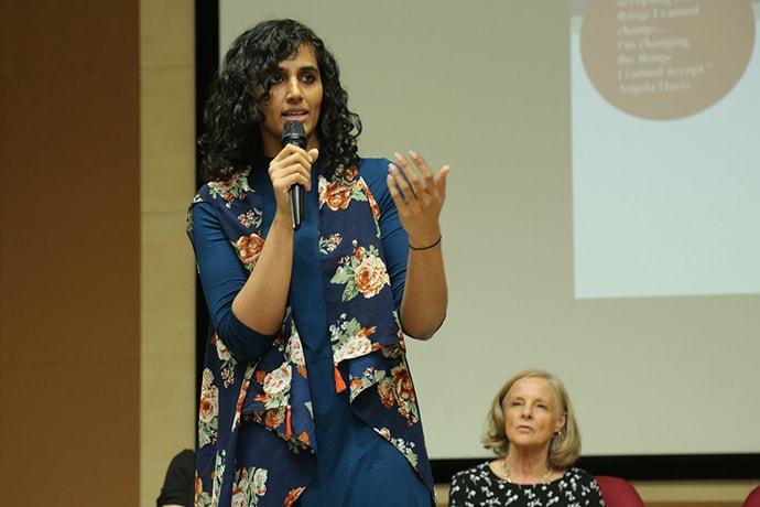 Kirthi Jayakumar speaking
