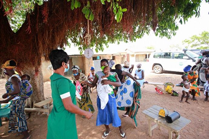 Community health nurses played Talking Book message during antenatal clinics