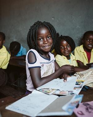 Child in FaithWorks classroom