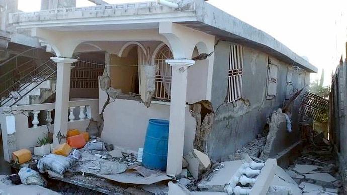 Damaged building in Haiti