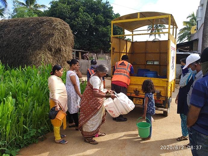 Sanitation kits distribution