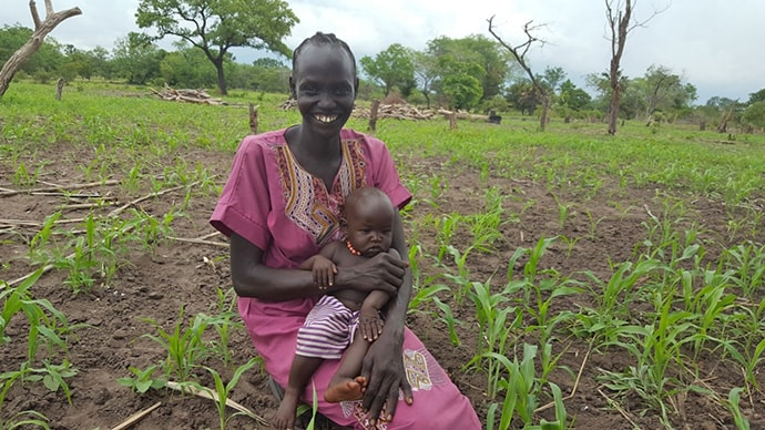 Abuk Diing on her farm