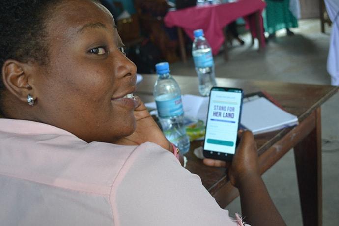 Helen, a community paralegal in Tanzania