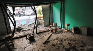 The Center of University and Professional Learning in Port-au-Prince was  destroyed by the Jan. 12 earthquake. Photo courtesy of New York Times