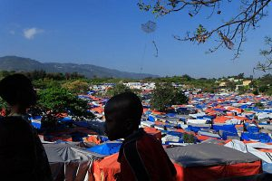 A makeshift camp for earthquake survivors in Port-au-Prince