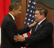 President Obama meets with Indonesia's President Yudhoyono. See article below. Photo courtesy of Brookings