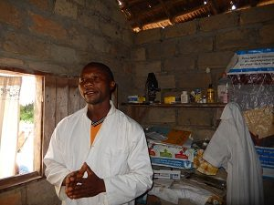 A health worker in Lolanga Zone