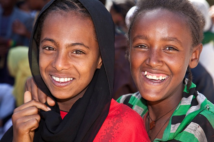 Young women in Gondar, Ethiopia