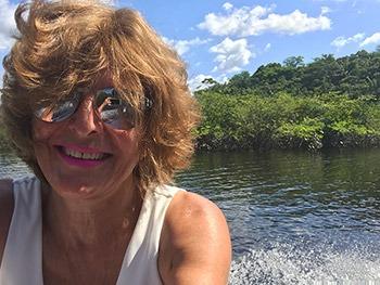 Selfie on the Amazon river in Brazil.