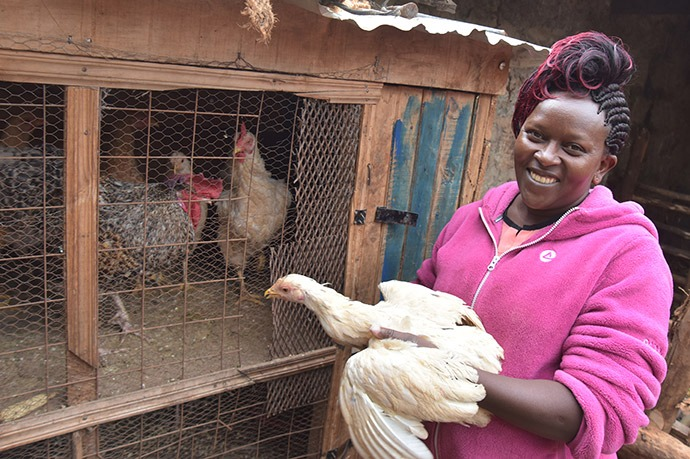Digital-based loans give females farmers like Anne Ndungu the safe, reliable financing they need to build strong agribusinesses in Kenya.