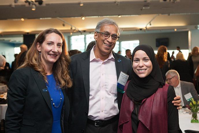 Kristen Dailey, Executive Director of GlobalWA; Akhtar Badshah, President & Chair of the board for GlobalWA; Alaa Murabit, Founder of the Voice of Libyan Women.